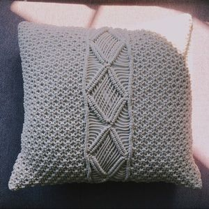 Beautiful Creme Crocheted Pillow